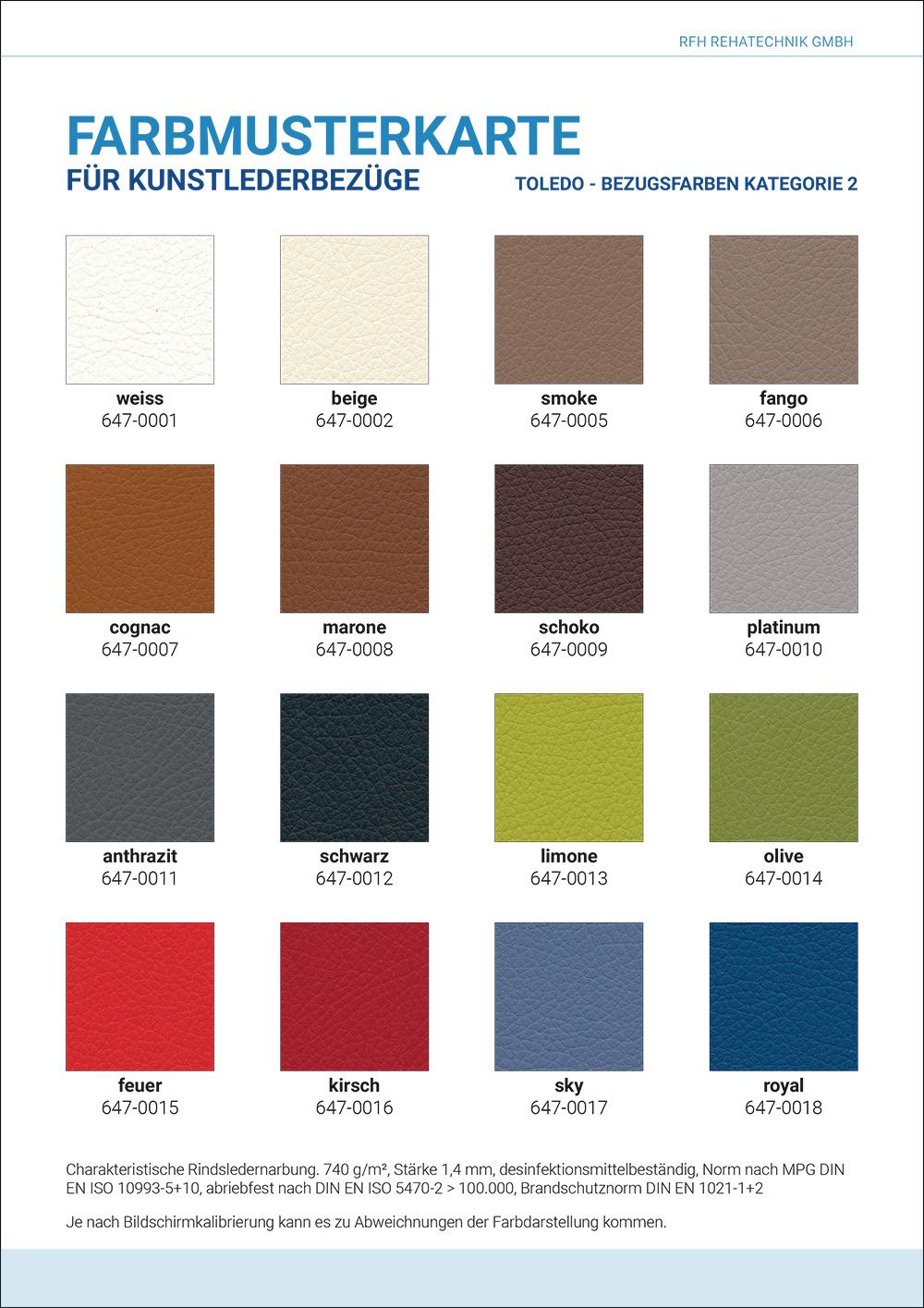 Farbmusterkarte